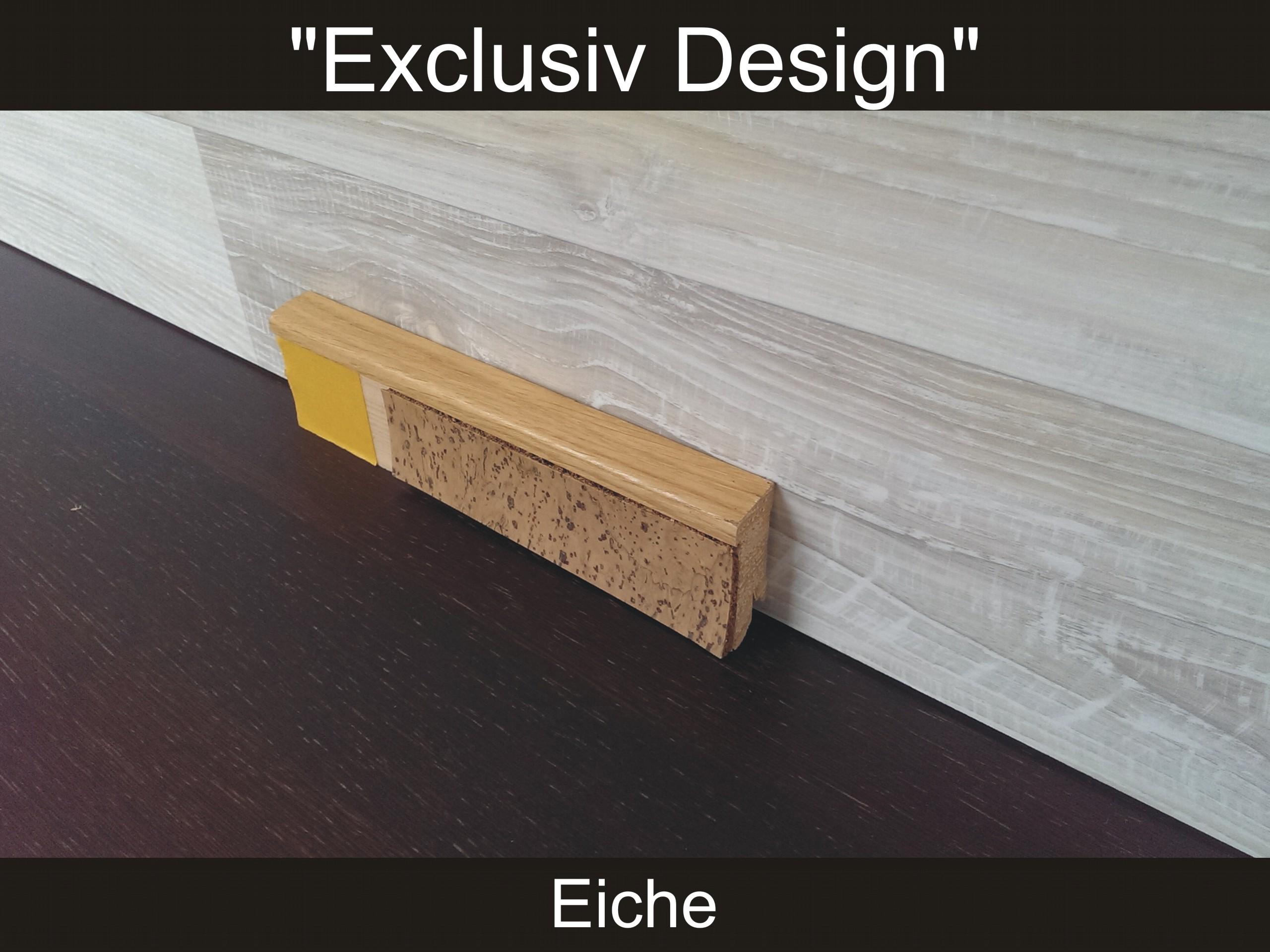 sockelleisten f r vinyl oder korkboden mit ausfr sung f r einlegestreifen mdf ebay. Black Bedroom Furniture Sets. Home Design Ideas